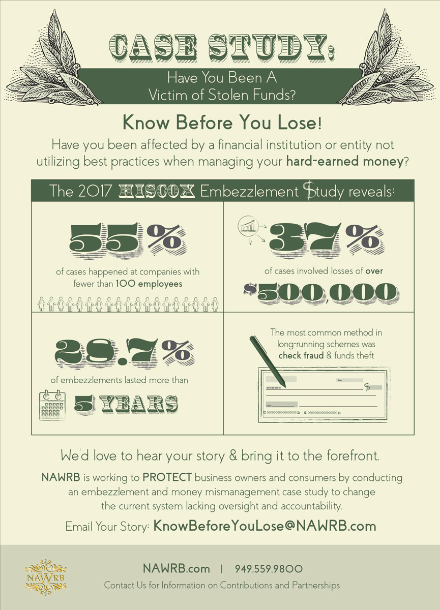 Case Study: Have You Been A Victim of Stolen Funds? - NAWRB
